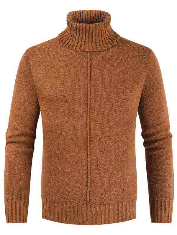 Fashion Casual Style Solid Color Turtleneck Sweater
