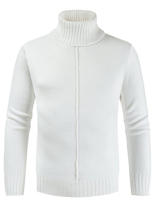 Hot Casual Style Solid Color Turtleneck Sweater