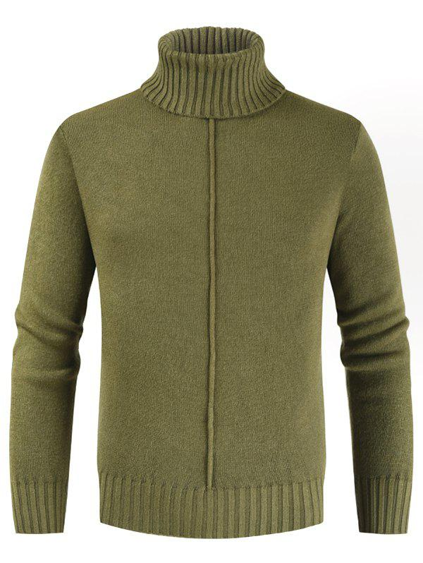 Outfit Casual Style Solid Color Turtleneck Sweater
