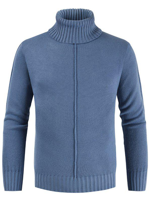 Discount Casual Style Solid Color Turtleneck Sweater