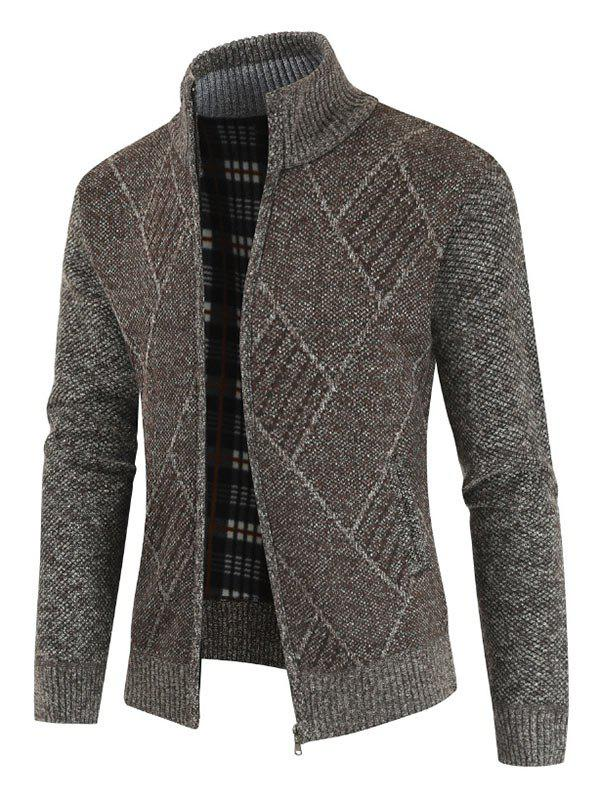 Shop Casual Geometric Pattern Zip Up Cardigan
