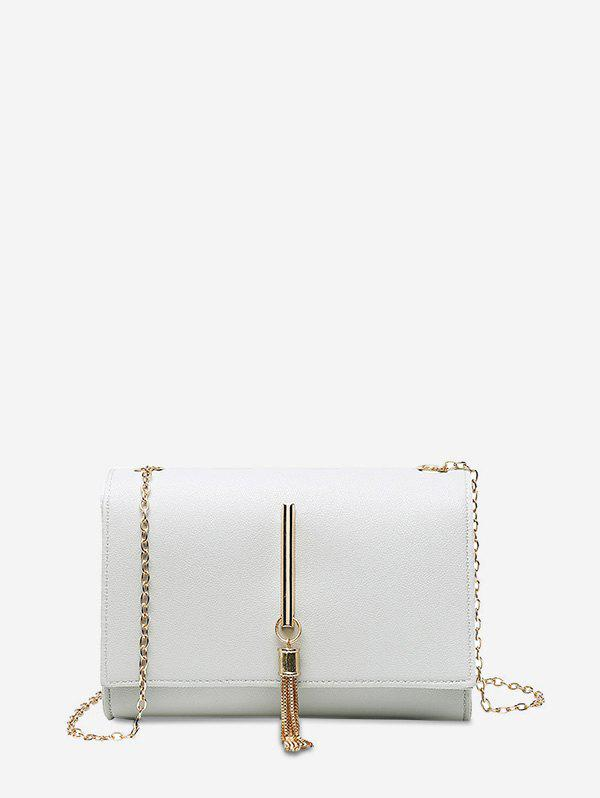 Sale Tassel Chain Rectangle Bar Cover Crossbody Bag