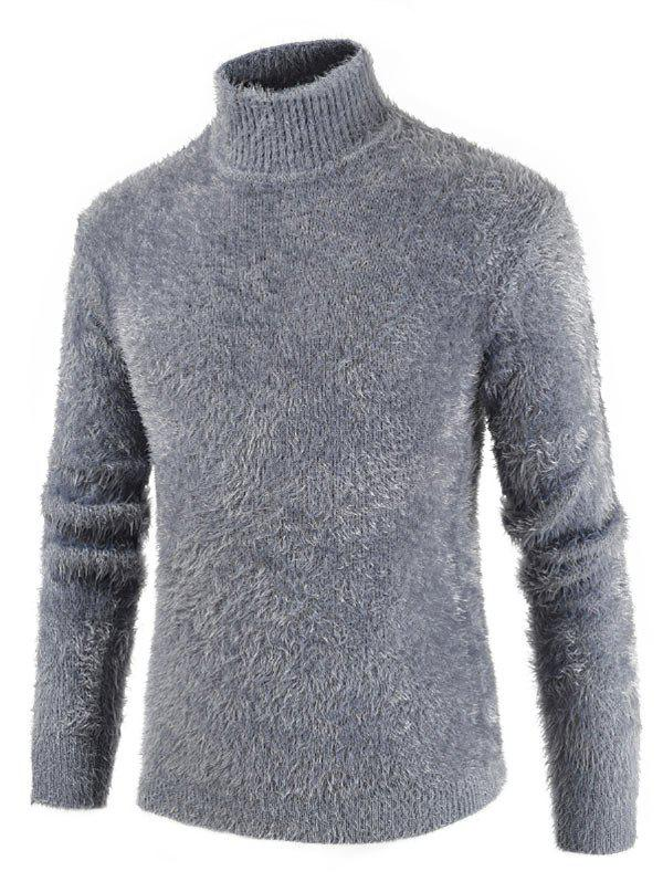 Store Casual Solid Color Mock NeckSweater