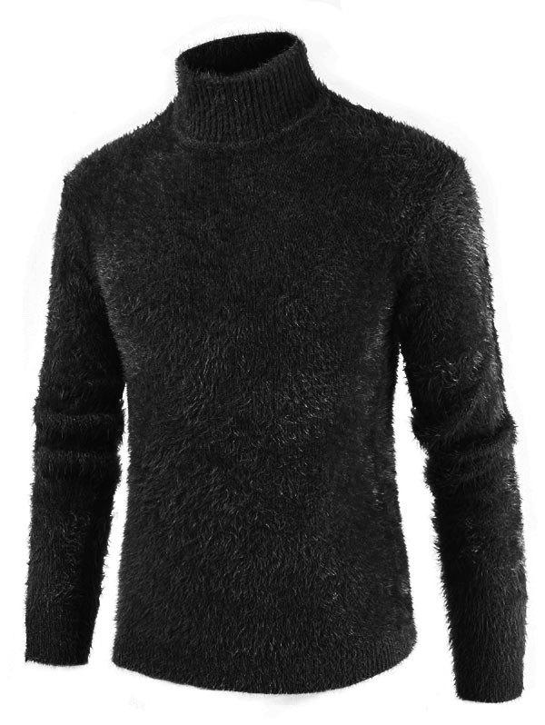 New Casual Solid Color Mock NeckSweater