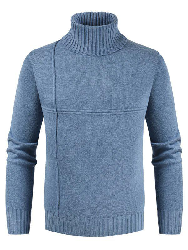 Cheap Solid Color Casual Turtleneck Sweater