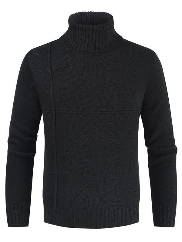 Fancy Solid Color Casual Turtleneck Sweater