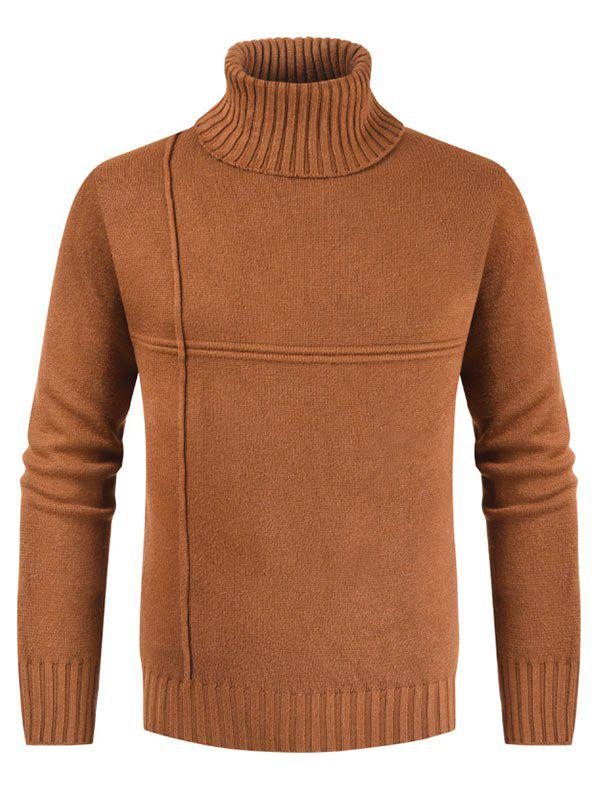 Affordable Solid Color Casual Turtleneck Sweater