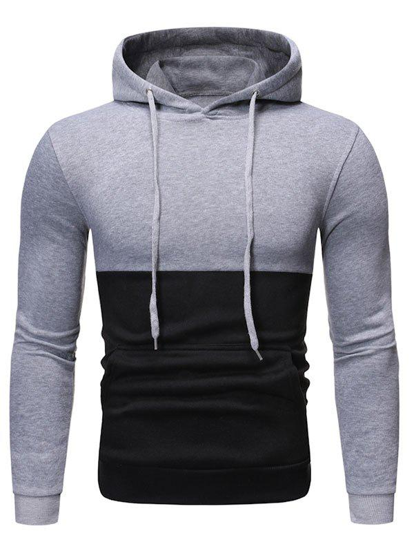 Latest Two Tone Color Panel Pullover Hoodie