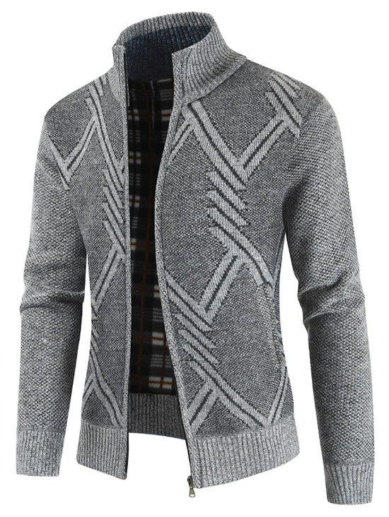 Outfit Geometric Pattern Long Sleeves Cardigan