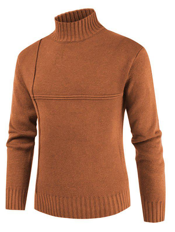 Chic Solid Color Mock Neck Casual Sweater