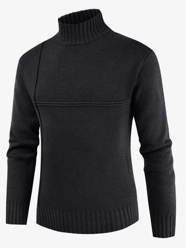 Hot Solid Color Mock Neck Casual Sweater