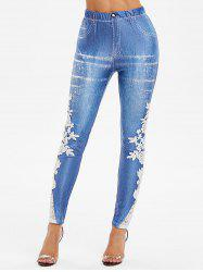 Guipure Lace High Rise Skinny Jeggings -