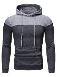 Color-blocking Fleece Pullover Hoodie -
