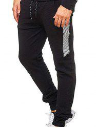 Contrast Color Stripes Splicing Sport Jogger Pants -