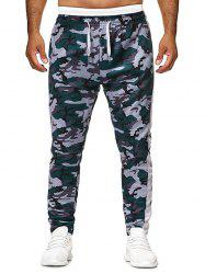 Camo Printed Drawstring Casual Pants -