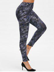 High Waist Skinny Hollow Out Leggings -