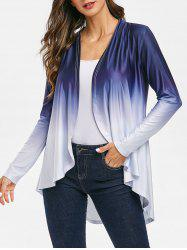 Open Front Ombre Color Cardigan -