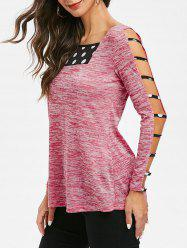 Space Dye Cut Out Tunic T Shirt -
