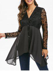 Halloween Skull Lace Button Up Top -