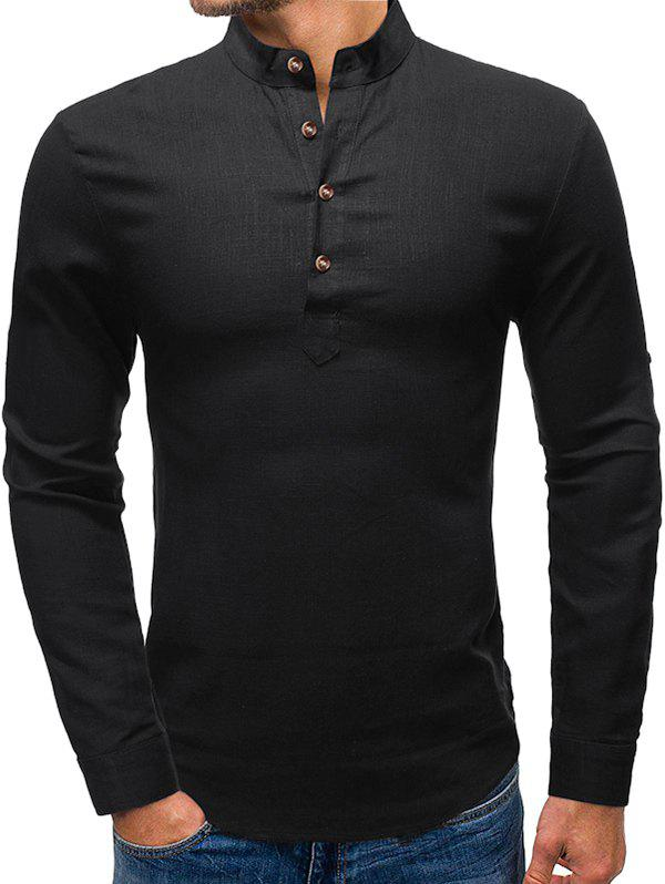 Discount Button Embellished Long Sleeves Shirt