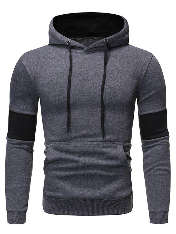 Best Color Panel Fleece Pullover Hoodie