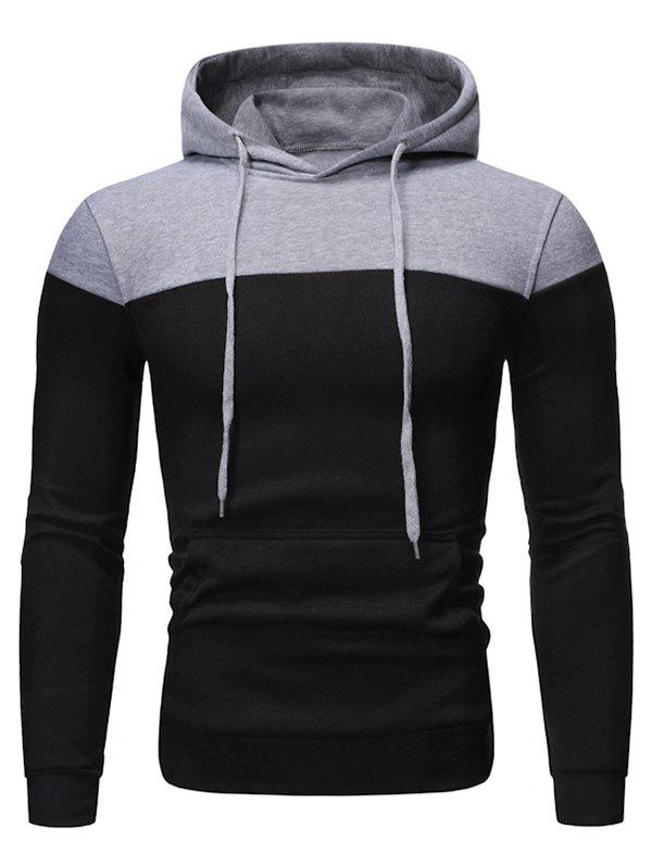 Affordable Color-blocking Fleece Pullover Hoodie