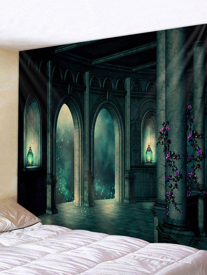 Store Halloween Retro Castle Print Tapestry Wall Hanging Art Decoration