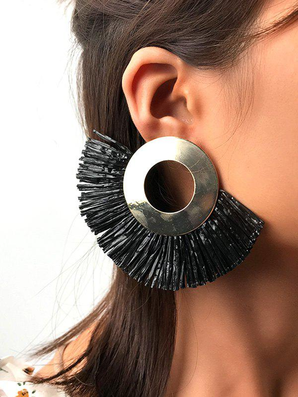 Fashion Retro Fringe Semicircle Ethnic Stud Earrings