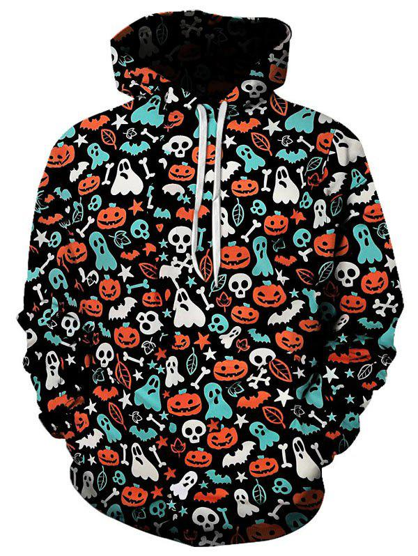 Buy Halloween Pumpkin Ghost Printed Hoodie