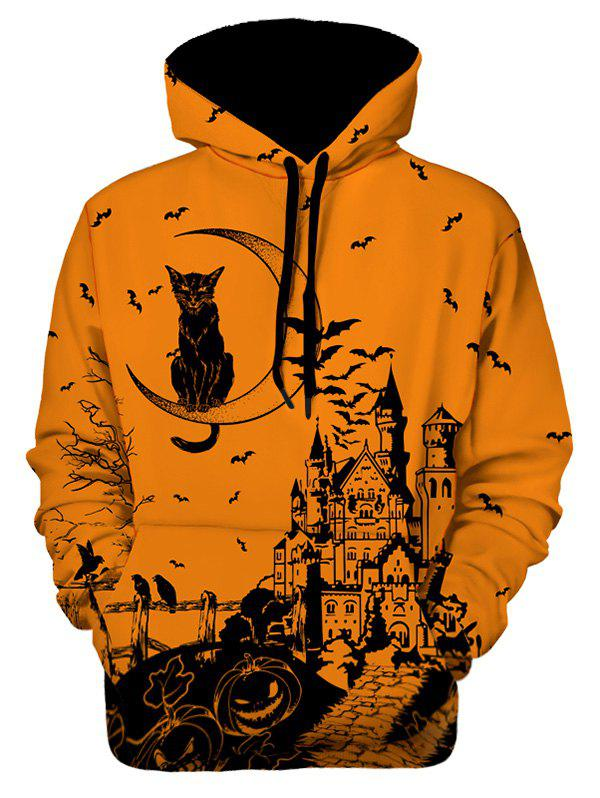 Sweat à capuche Halloween imprimé graphique Multi M