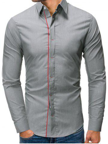 Casual Button Up Long Sleeves Base Shirt