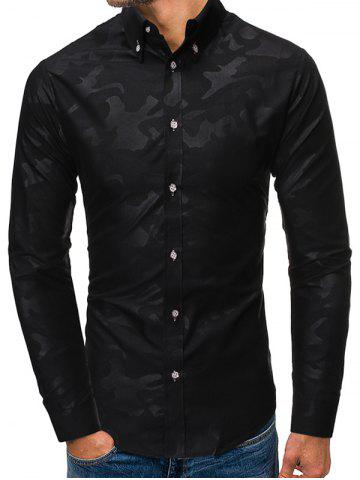 Casual Button Up Long Sleeves Shirt - from $11.11