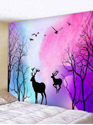 Forest Deer Printed Wall Tapestry -