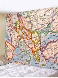 Europe Map Pattern Wall Hanging Tapestry -