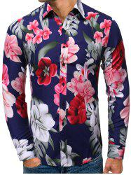 Floral Pattern Casual Long-sleeved Shirt -