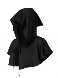 Halloween Bowknot Hooded Open Front Mini Cape -