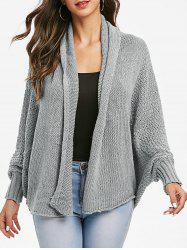 Batwing Sleeve Open Knit Open Front Cardigan -