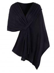 Taille Plus solide Couleur Cape Pull -