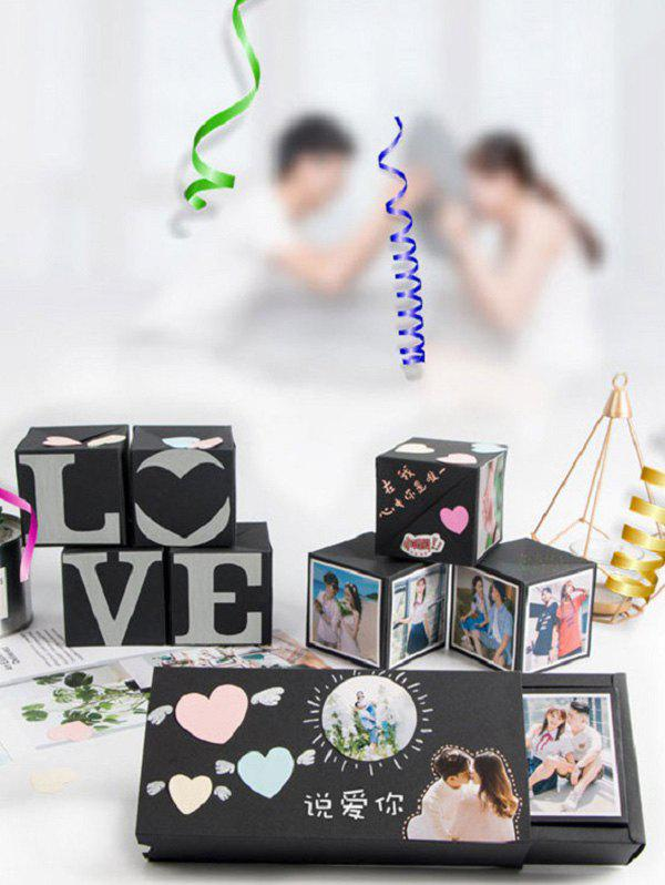 New Creative Surprise Birthday Gift DIY Handmade Photo Album Explosion Bouncing Box