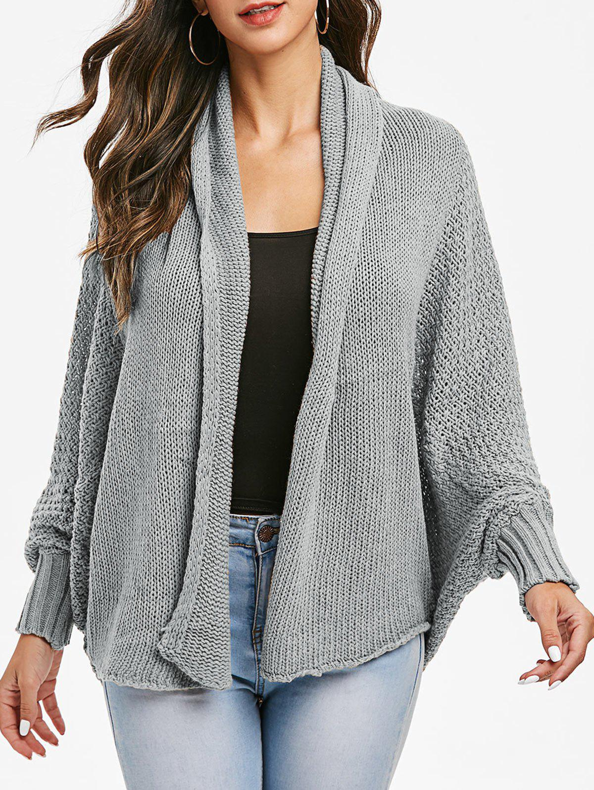Latest Batwing Sleeve Open Knit Open Front Cardigan