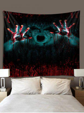 Gothic Halloween 3D Print Art Decoration Wall Tapestry, Red wine