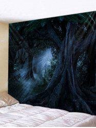 Halloween Dark Forest Printed Wall Tapestry -