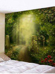 Dreamy Forest Pathway Print Tapestry Wall Art -