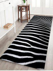 Zebra Striped Pattern Bath Floor Rug -