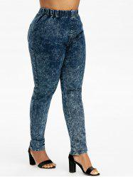 Plus Size High Waisted Tie Dye Jeans -