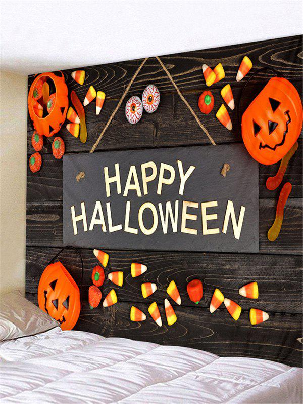 Affordable Happy Halloween Letter Pumpkin Wall Tapestry