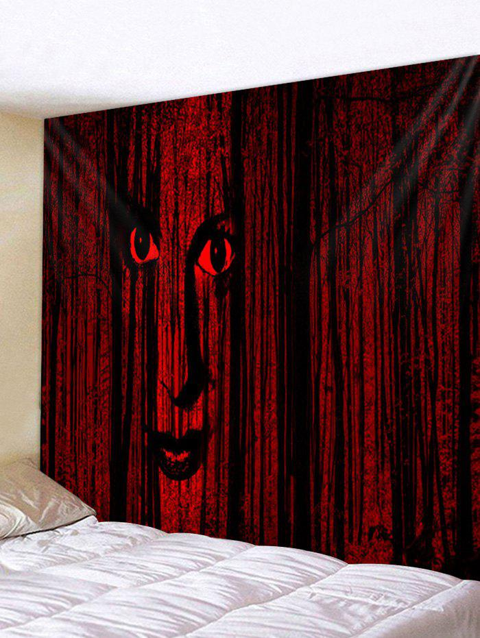 Outfits Halloween Face Forest Print Wall Tapestry