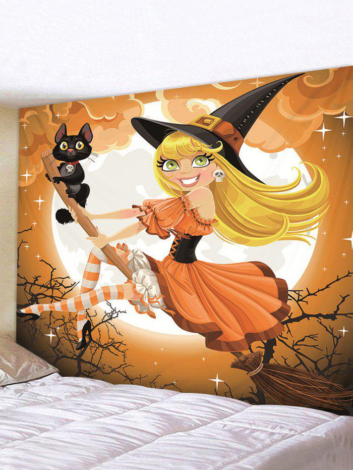 Sale Halloween Printing Witch Wall Tapestry