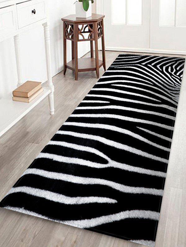New Zebra Striped Pattern Bath Floor Rug