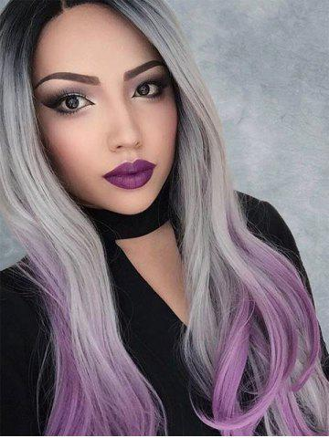 Center Part Halloween Ombre Wavy Synthetic Lace Front Wig